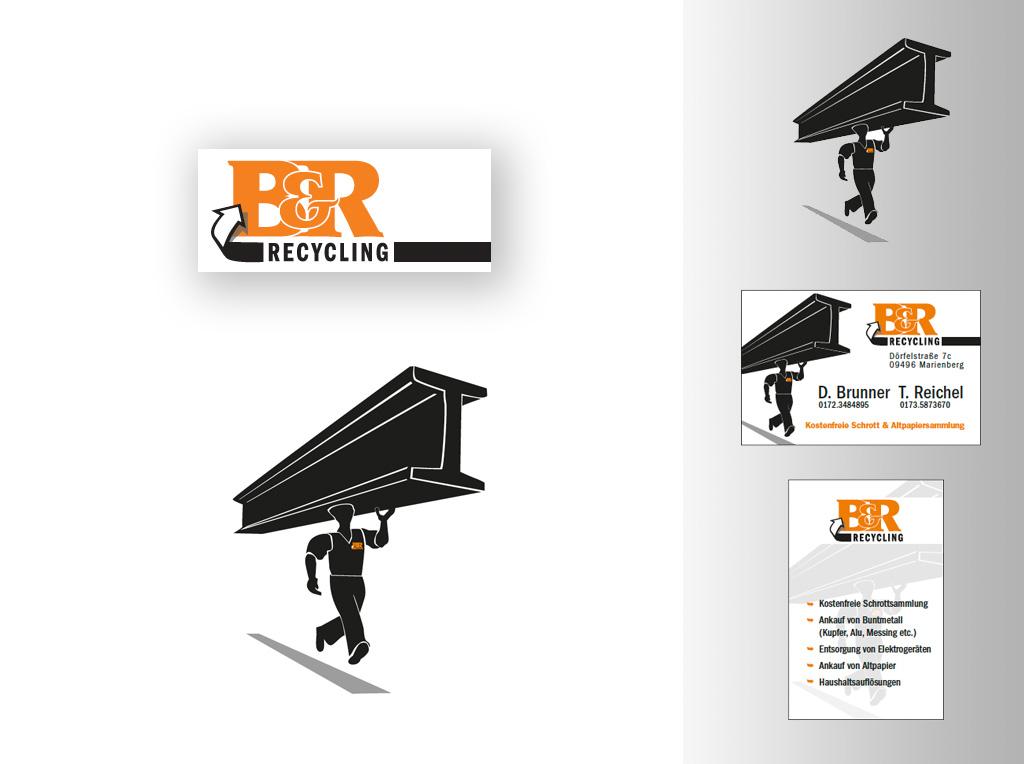 Logoentwicklung für B&R Recycling