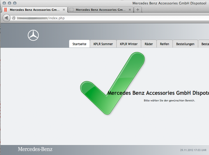 Mercedes Benz Dispotool zieht um