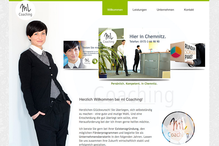 ml Coaching Layoutanpassung für WordPress-Template