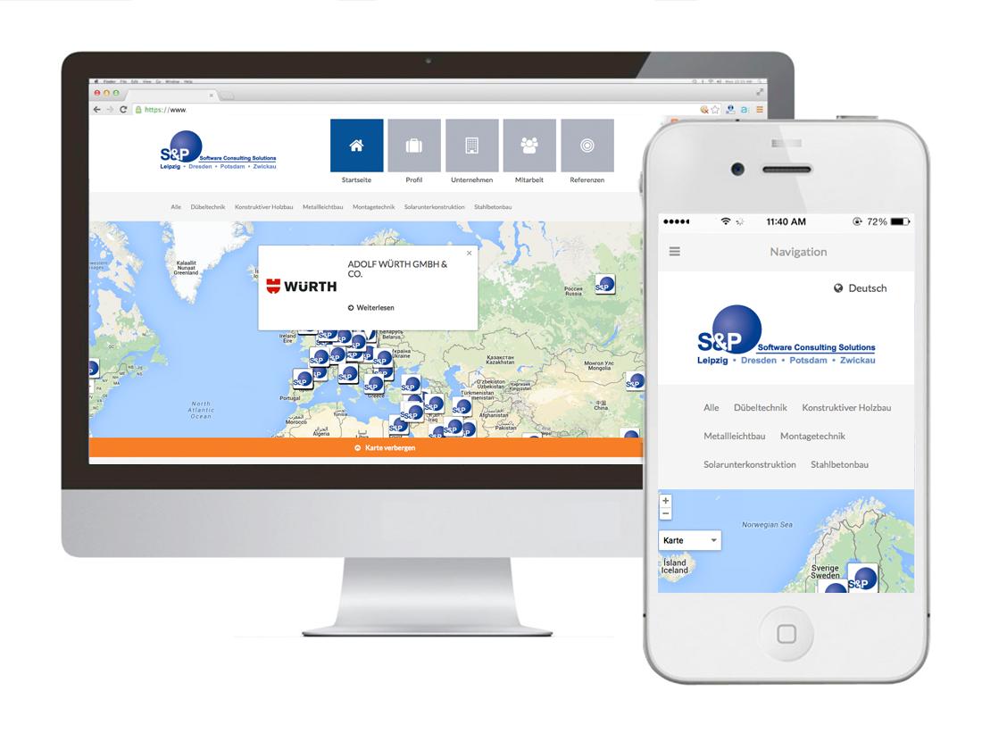 Google Maps Api + WordPress für S&P SCS