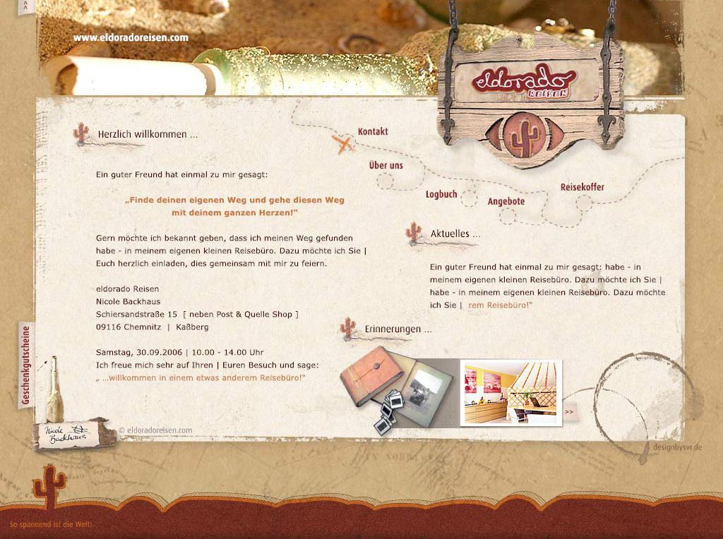 Liebevolles Webdesign für Frau Backhaus