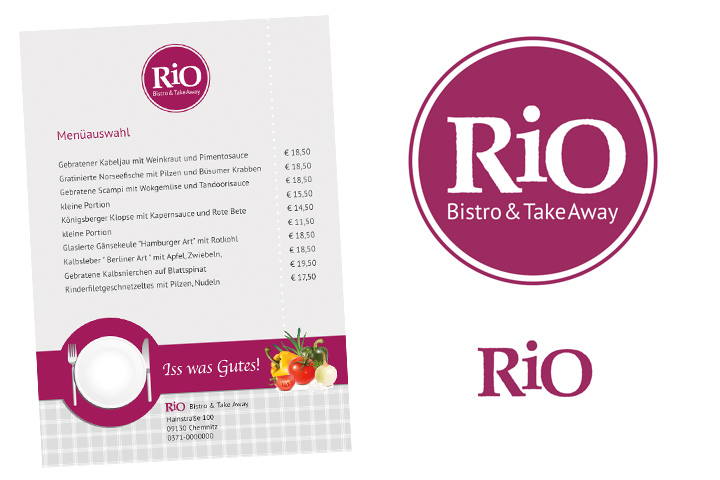 Corporate Design für RiO Bistro & Take Away