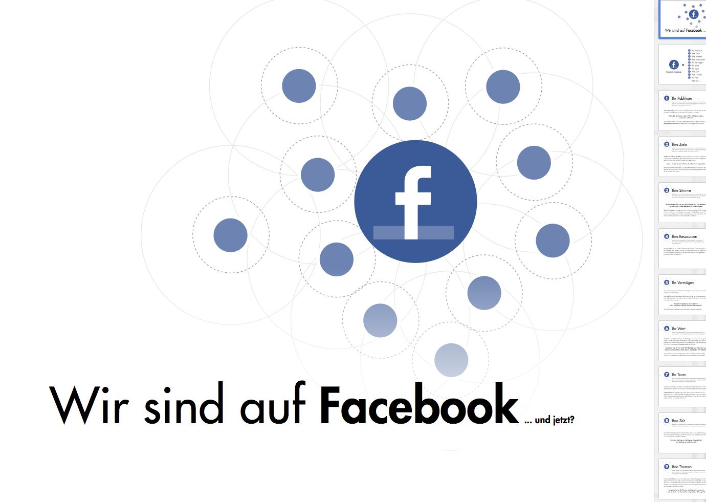 Wir sind auf Facebook… und jetzt?